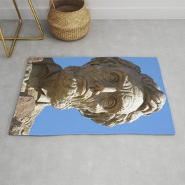Head of Lincoln on Lincoln Highway Rug