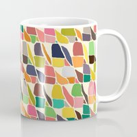 ikat Mugs featuring ikat weave by Sharon Turner