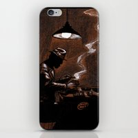 bar iPhone & iPod Skins featuring Noir Bar by David Miley