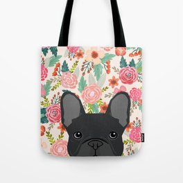 French Bulldog florals dog portrait pet art dog breeds custom frenchie gifts Tote Bag