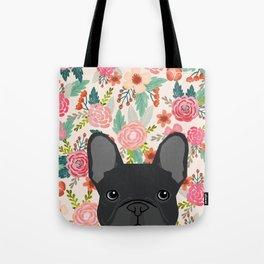 French Bulldog florals dog portrait pet art dog breeds custom frenchie gifts Tote Bag