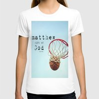 scripture T-shirts featuring Matthew Scripture Name Art by KimberosePhotography