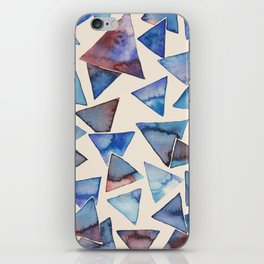 Triangle pattern watercolor painting iPhone Skin