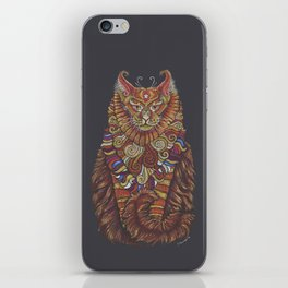 Maine Coon Cat Totem iPhone Skin