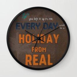 Holiday From Real Wall Clock