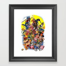 Smash Bros Melee! Framed Art Print