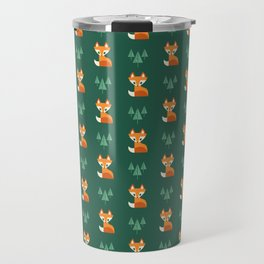 Geometric Foxes Travel Mug