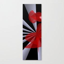 red white black -20- Canvas Print