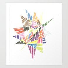 Jagged Art Print