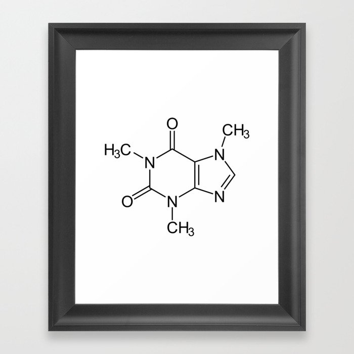 Caffeine Molecule Gerahmter Kunstdruck