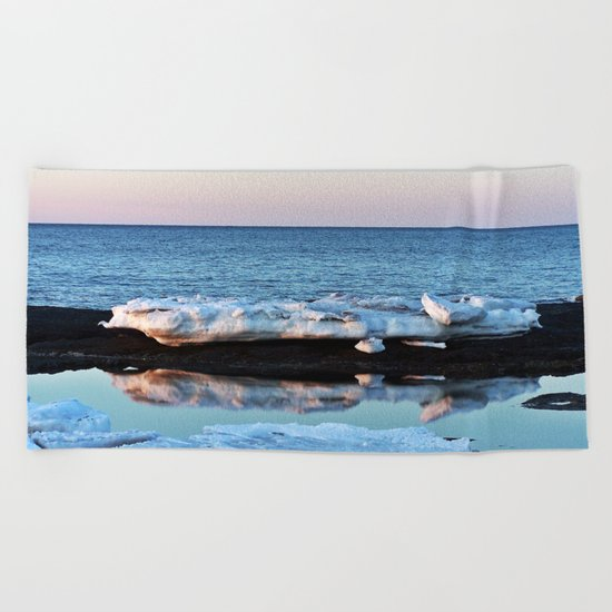 Ice Reflected Beach Towel