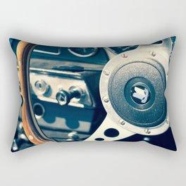 Old Triumph Wheel / Classic Cars Photography Rectangular Pillow