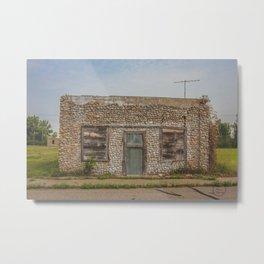 Stone Building, Regan, North Dakota 3 Metal Print