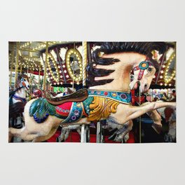 """""""Find Your Wild"""" carousel horse with sparkly lights Rug"""