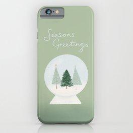 Season's Greetings   Snow Globe iPhone Case