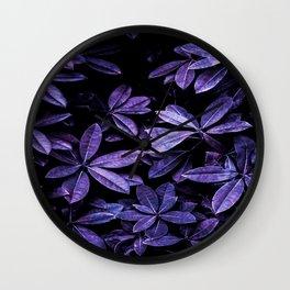 Stillness, Botanical Plants Leaves Wall Clock