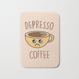 Depresso Coffee, Funny, Quote, Coffee Bath Mat