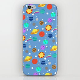 planets and stars iPhone Skin