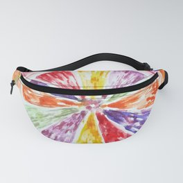 Rainbow Orange Sun Fanny Pack