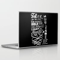 lettering Laptop & iPad Skins featuring Lettering Lyrics by Insait