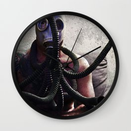 Gas Mask Medusa Wall Clock