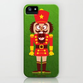 A Christmas nutcracker breaks its teeth and goes nuts iPhone Case