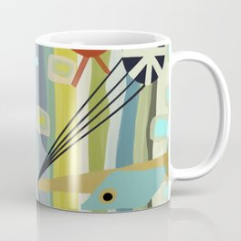 Mid Century Modern Fish Art Coffee Mug