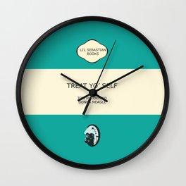 Treat yo' self - the book Wall Clock