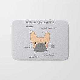 The French Bulldog Face Guide Bath Mat