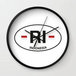 indonesia Wall Clock