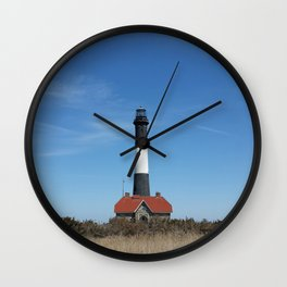 fire island lighthouse Wall Clock
