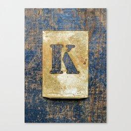 Letter K Canvas Print