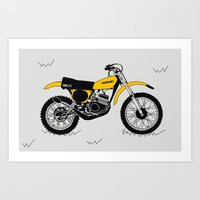1975 Suzuki RM125 Art Print