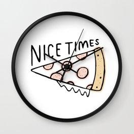 Nice Times Pizza Wall Clock