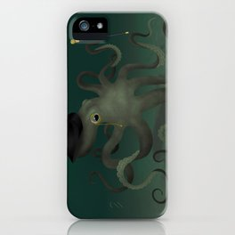 Octopus with a top hat iPhone Case