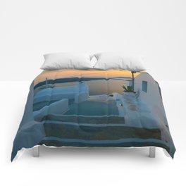 paradise sunset Comforters