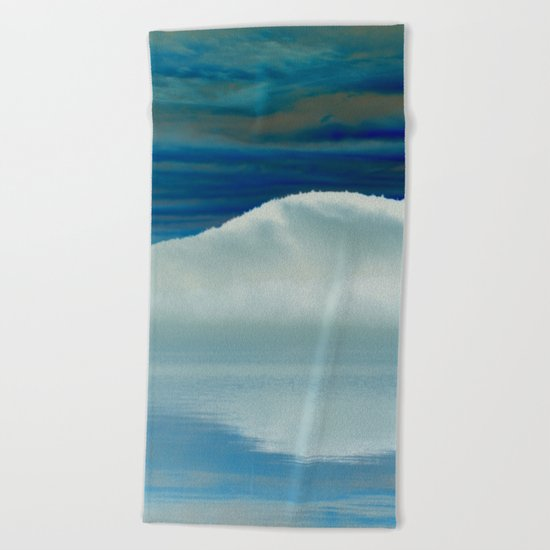 Ice in the Morning on Lake George Beach Towel