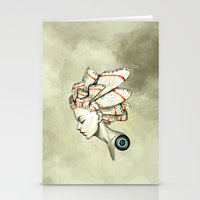 moth Stationery Cards featuring Moth 2 by Freeminds