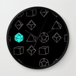 Dungeons and Dragons Dice Wall Clock