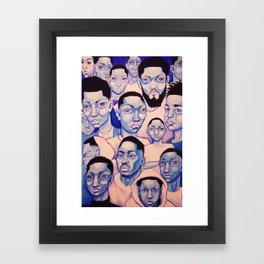Black Boy Blues Framed Art Print