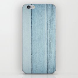 Texture fence rough blue wood iPhone Skin