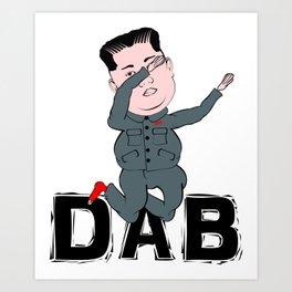 Kim Jong Un Dabbing Art Print
