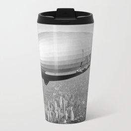 Airship Flying Over New York City Travel Mug