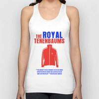 the royal tenenbaums Tank Tops featuring The Royal Tenenbaums Movie Poster by FunnyFaceArt