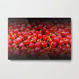 cherries pattern reaclistd Metal Print