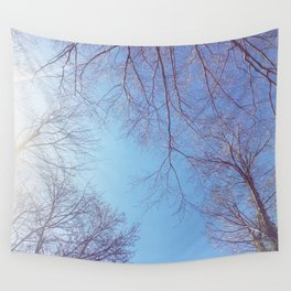 The Trees - Bright Skies Wall Tapestry