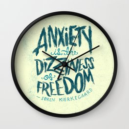 Kierkegaard on Anxiety Wall Clock