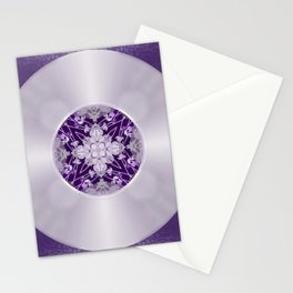 Vinyl Record Illusion in Purple Stationery Cards