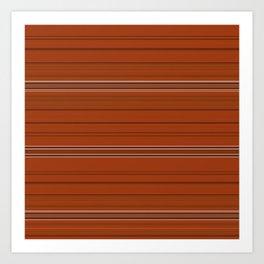 Rust Orange Stripes Art Print
