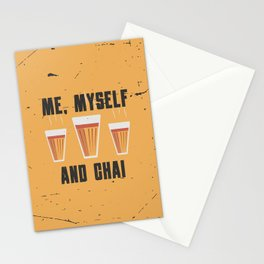 Funny Me Myself Chai Quote Stationery Cards